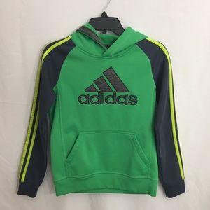 Adidas Boys Hooded Sweatshirt Hoodie